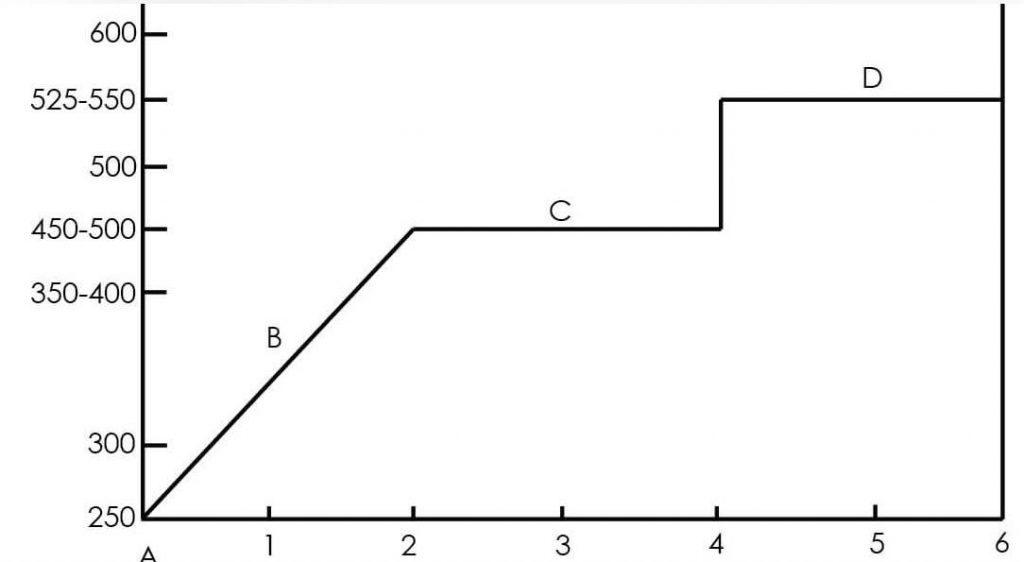 Typical Presulfiding Schedule Graph
